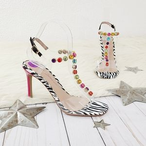 Betsey Johnson Camila heels jeweled illusion studs